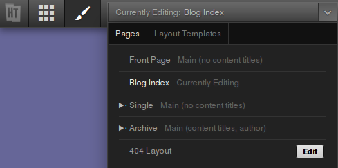 Edit the 404 Layout in Headway's Design Editor